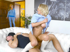 Alix Lynx sneakily rides her stepbrother's hard meat