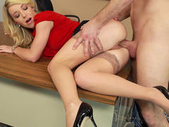 Clothed teacher Laura Bentley gets fucked by her student