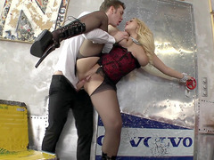 Markus ruthlessly butt-banging the sultry bitch Angel Wicky