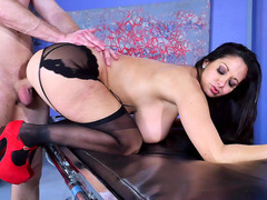 Ava Addams bends over the hospital table and gets slammed