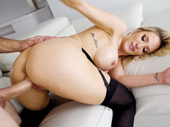 Busty MILF Blake Morgan getting doggystyled by horny Jmac