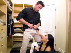 Cindy Starfall getting acquainted with her step dad's cock