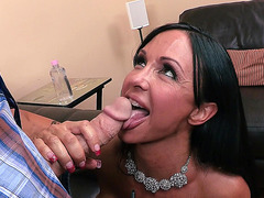 Jewels Jade get her hands on his enormous cock