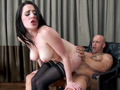 Samantha Bentley has him pound her British pussy
