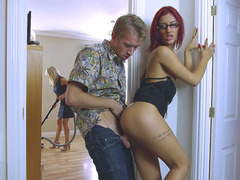 Aylin Diamond gets fucked behind her stepmom's back