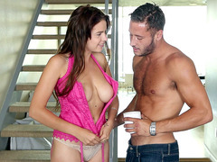 Marina Visconti seduces this dude with her curves
