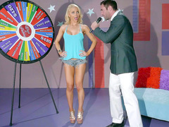 Playful babe Alix Lynx unleashes her jugs at dirtiest show Wheel of Fucking