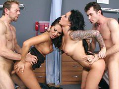 Asa Akira and Christy Mack getting screwed in the hospital