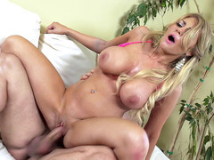 Swanky babe Kayla Kayden rides the dick reverse cowgirl
