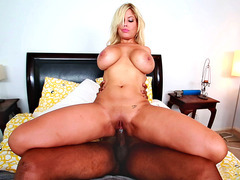 Spanish chick Bridgette B got on that huge black dick