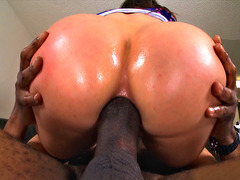 Aleksa Nicole anal pounded by a big black shaft