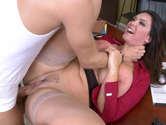 Busty whore Alison Tyler gets her cunt screwed on her desk