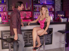 Slutty blonde Capri Cavanni gets seduced in the bar