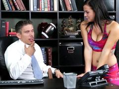 Keisha Grey seducing her professor in his office