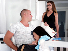 Sofi Ryan sucks guy's cock and his mom is none the wiser