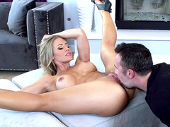 Nicole Aniston getting her pussy munched on by Keiran Lee