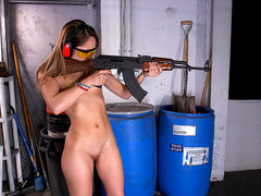 Remy LaCroix tackled an M16 and an AK-47 at a local gun range