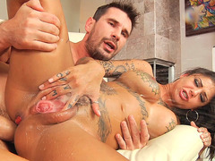 Inked squirter Bonnie Rotten gets obliterated by Manuel Ferrara