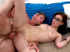 Tali Dova is getting her hairy pussy screwed from the rear