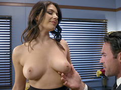 Saleswoman Valentina Nappi is willing to do anything to make some money