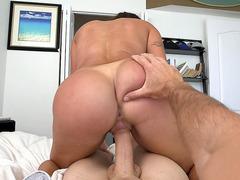 Big booty Latina Julianna Vega fucks thick cock POV cowgirl style