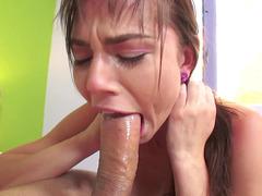Aidra Fox does the most intense deepthroat blowjob