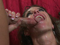 Veronica Avluv getting screwed and receiving hot jizz all over her face